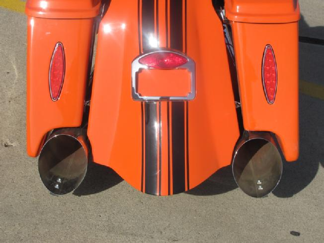harley whale tail fender and saddle bags